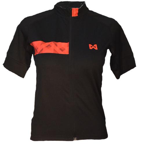 Women''s Sportswear Style 3 เสื้อจักรยานผู้หญิง แบบที่ 3 สีดำแถบแดง
