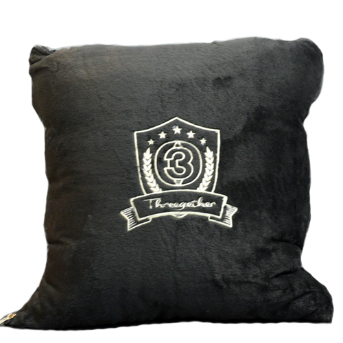 Pillow covers (Black) <br />หมอนผ้าห่มสีดำ