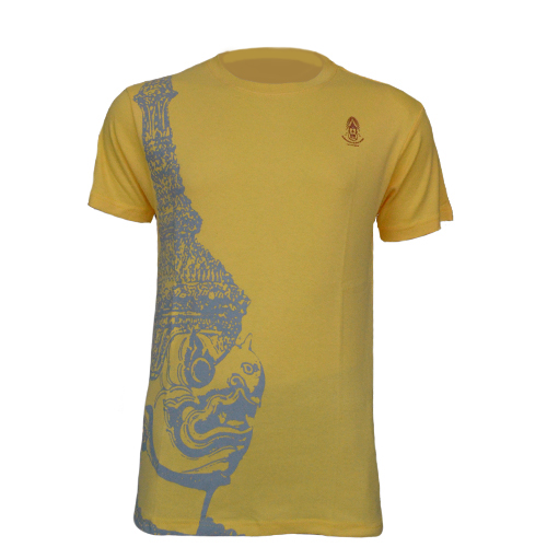The King of Garuda เสื้อคอกลมลายหัวครุฑสีเหลือง