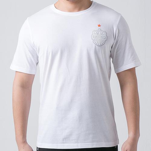 เสื้อ T-shirt โลโก้อกหน้า ขาว