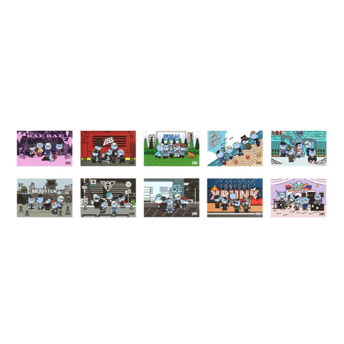 (PRE-ORDER)[10th] KRUNK X BIGBANG POSTCARD SET