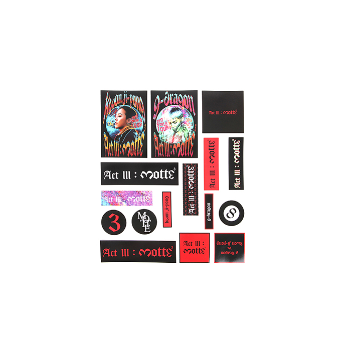 (PRE-ORDER)[MOTTE] G-DRAGON STICKER SET