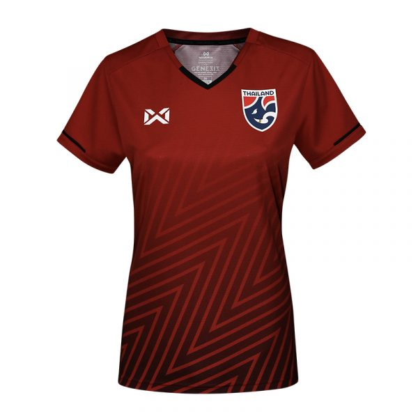 เสื้อเชียร์ฟุตบอล(ผู้หญิง)ทีมชาติไทย2018 สีแดง (V.2)