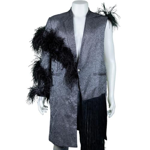 Ben Chalatit Elegant Maxi suit with fringe
