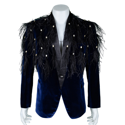 Ben Chalatit Navy blue suit with fringe