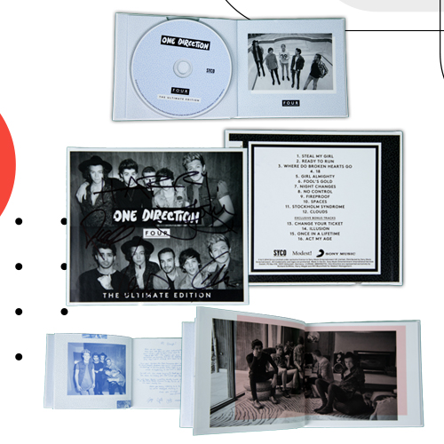 One Direction CD with autograph