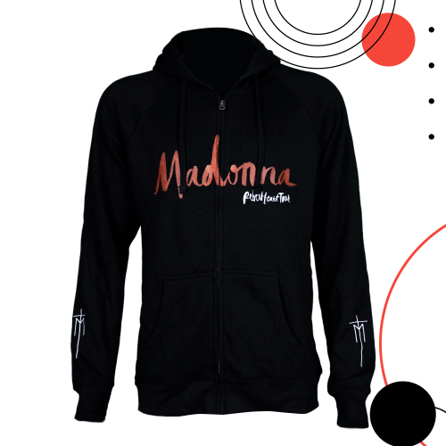 Madonna Hooded Jacket: Size L/ Black Colour