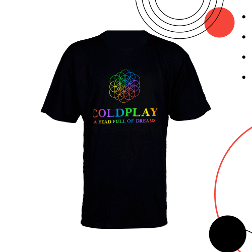 Cold Play T-Shirt (Logo Picture): Size XL / Black Colour