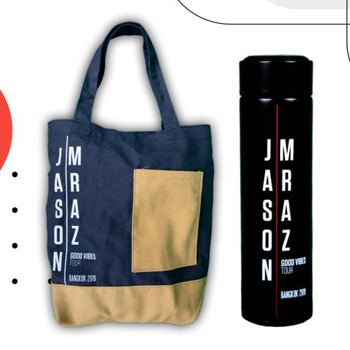 Jason Mraz Shopping Bag + Mug Bottle