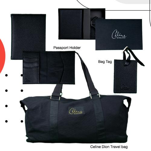 Celine Dion Travel bag + Passport Holder + Bag Tag