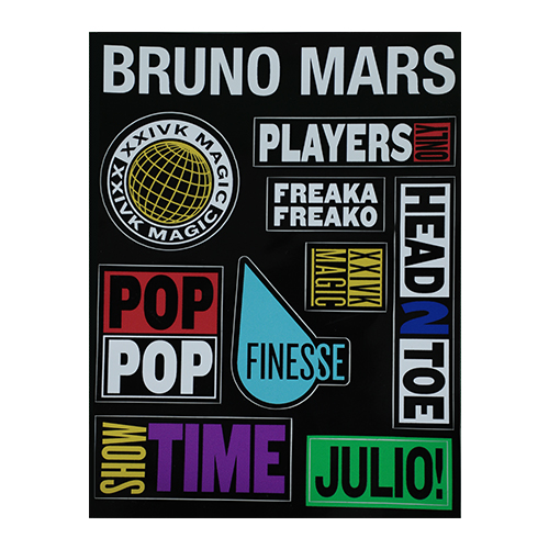 Bruno Mars STICKER PACK