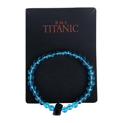 Blue beads bracelet