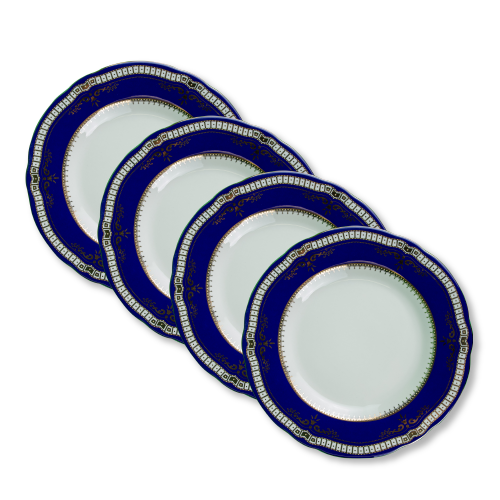 1st class dinner plate set 4 pcs.