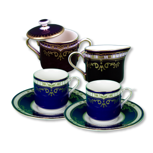 1st class cup/saucer + cream sugar set