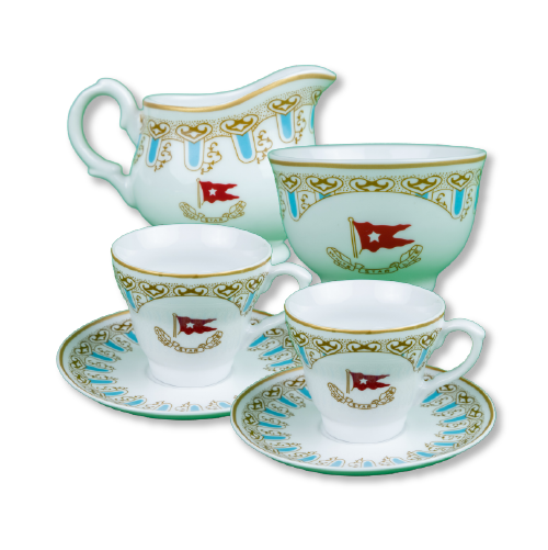 Wisteria cup/saucer set 2 pcs.+ cream sugar