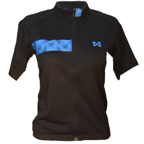 Women''s Sportswear Style 3 เสื้อจักรยานผู้หญิง แบบที่ 3 สีดำแถบฟ้า