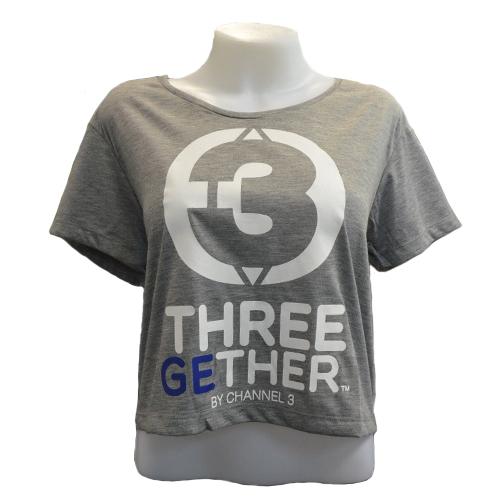 Crop T-Shirt (Grey) เสื้อลำตัวสั้นสีเทา