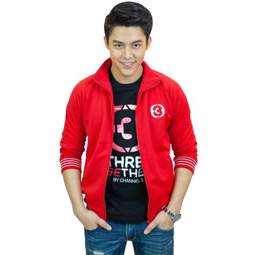 Jacket TV3 Unisex (Red) <br />เสื้อแจ็คเก็ตสีแดง