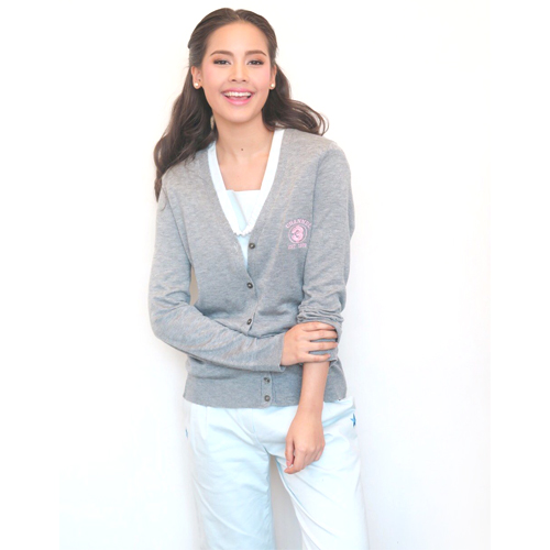 Cardigan Channel3 (Grey) <br />เสื้อคลุมไหมพรมสีเทา