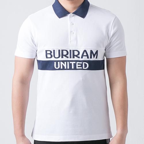 เสื้อโปโล BRUTD สีขาว/กรม