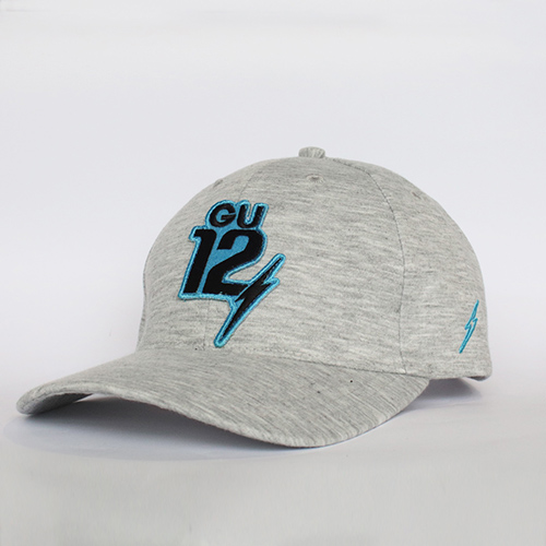 หมวกสีเทา GU12 สีฟ้า