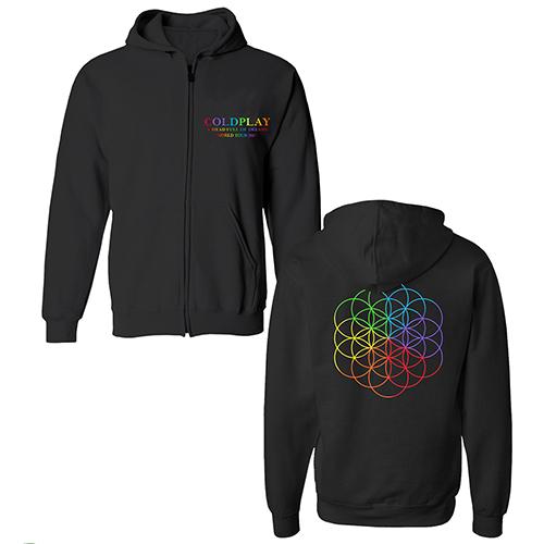 Coldplay FOL Black Zip Hood