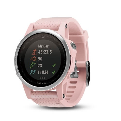 Garmin fenix 5S Pink Meringue Sapphire with pink band