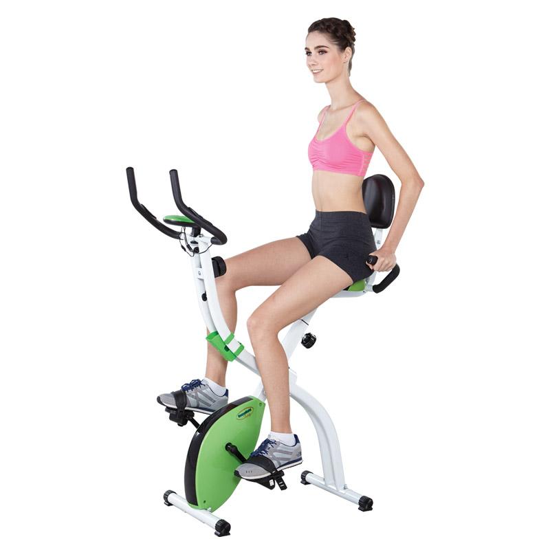 X-BIKE จักรยานแม่เหล็ก พับได้ สีเขียว