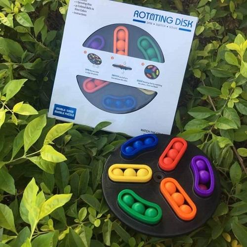 Rotating  disk ( Back  spin )