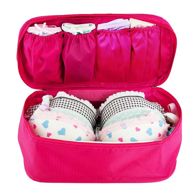 กระเป๋าเก็บชุดชั้นใน สีชมพู