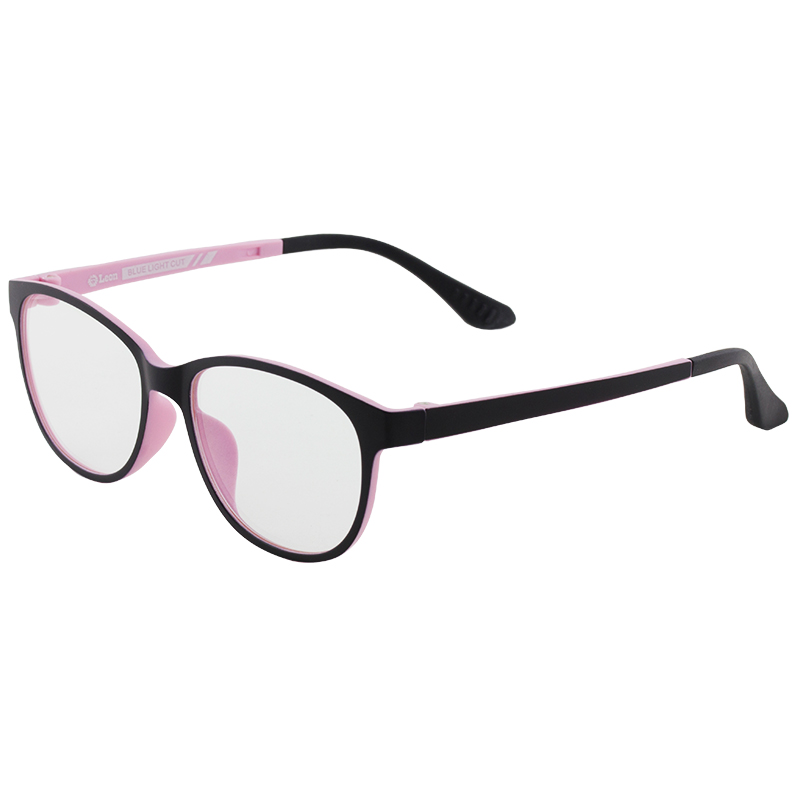 Leon แว่นกรองแสงอุปกรณ์ดิจิตอล กรอบดำ-ชมพู