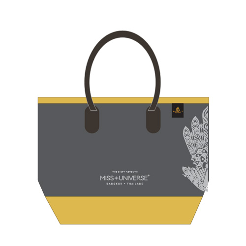 Totebag Grey & Gold (Screen White)