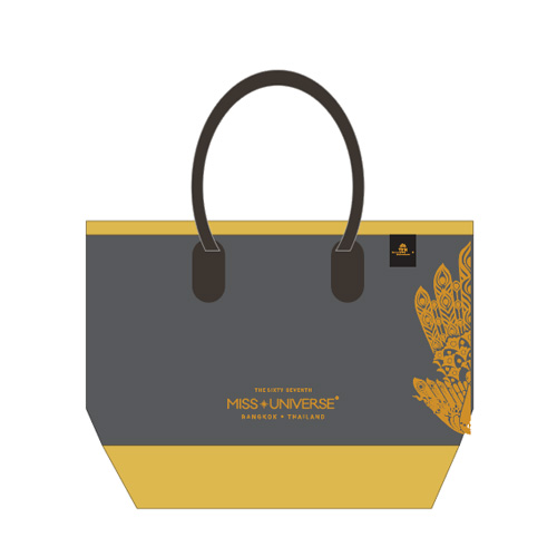 Totebag Grey & Gold (Screen Gold)