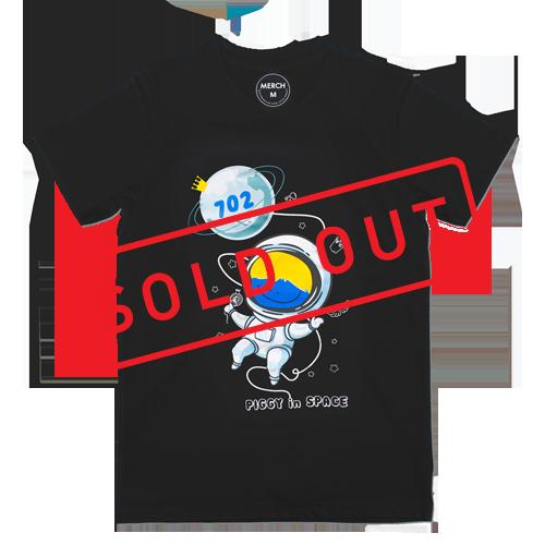 T-shirt : PIGGY IN SPACE V.2 _BLACK