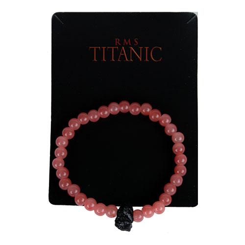 Stretch faux coral bracelet