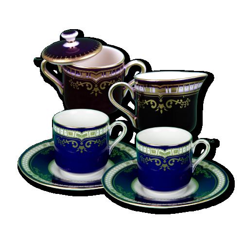 1st class cup/saucer + cream sugar set