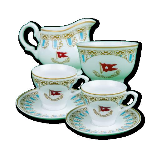 Wisteria cup/saucer set 2 pcs.+ cream sugar