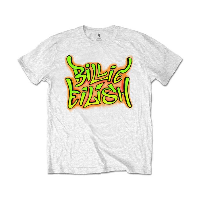 Pre order Billie Eilish - Graffiti White T-Shirt