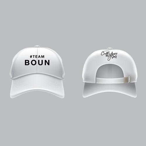 Cap #Teamboun [White]