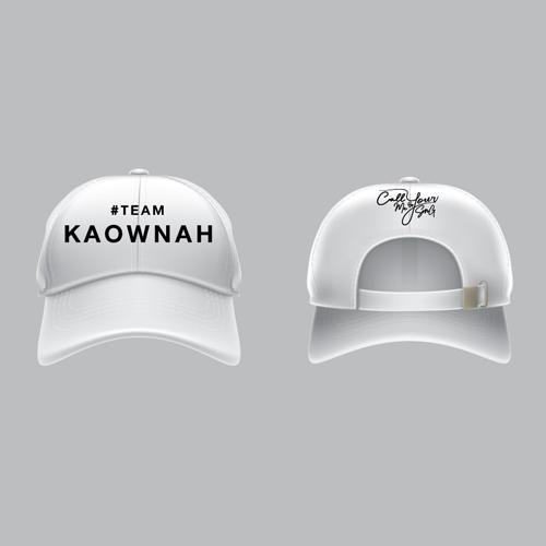 Cap #Teamkaownah [White]