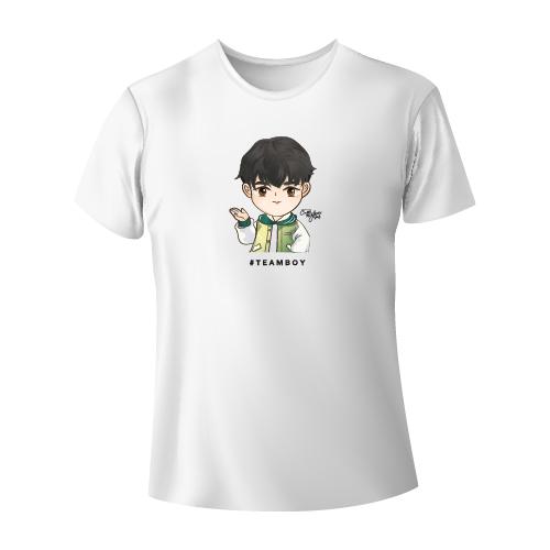 Cartoon Fan Art T-shirt  #TEAMBOY [White]