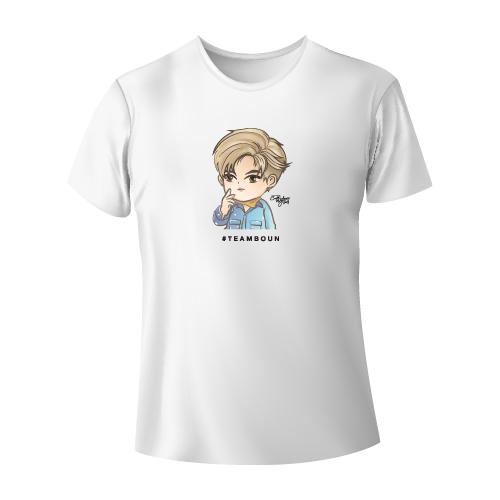 Cartoon Fan Art T-shirt  #TEAMBOUN [White]