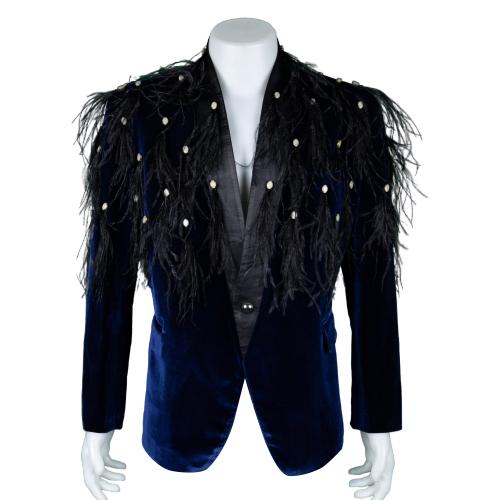 Ben Chalatit Navy blue suit with fringe