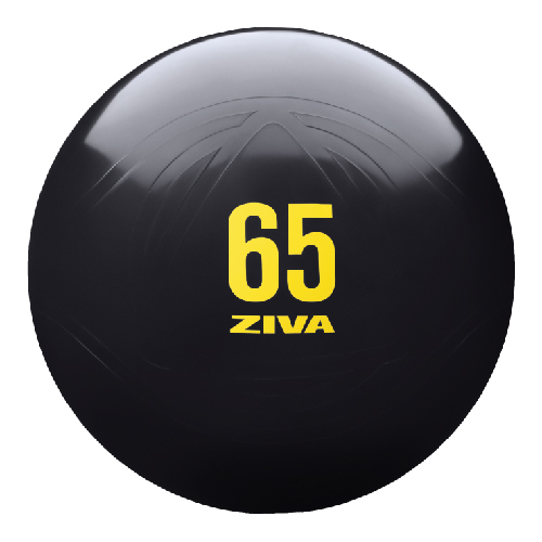 ZIVA Anti Burst Core Fitness Exercise Ball (Black)