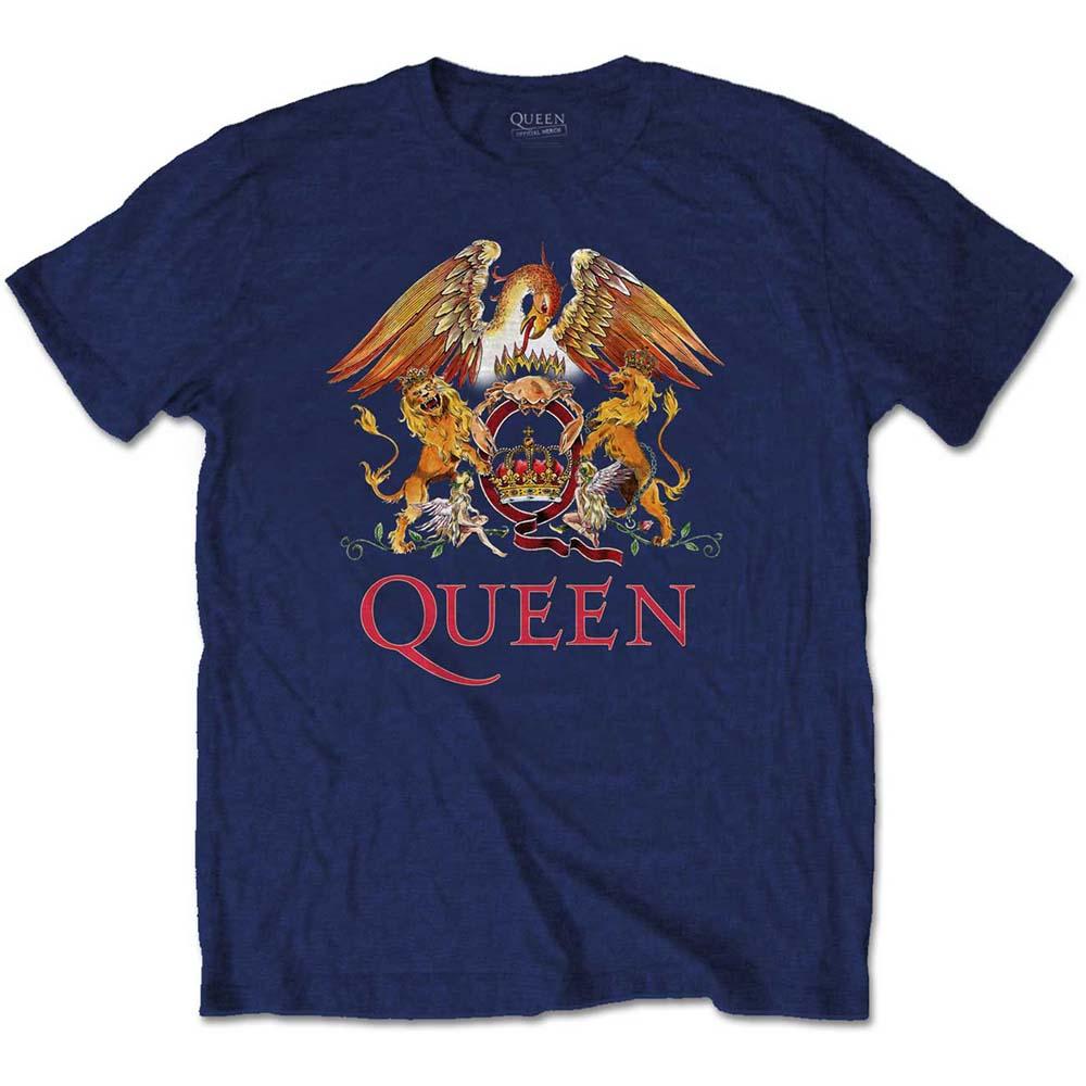 Pre order Queen - Classic Crest Navy T-Shirt