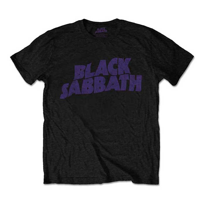 Black Sabbath - Wavy Logo Vintage T-Shirt