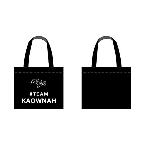 Text Tote Bag  #TEAMKAOWNAH