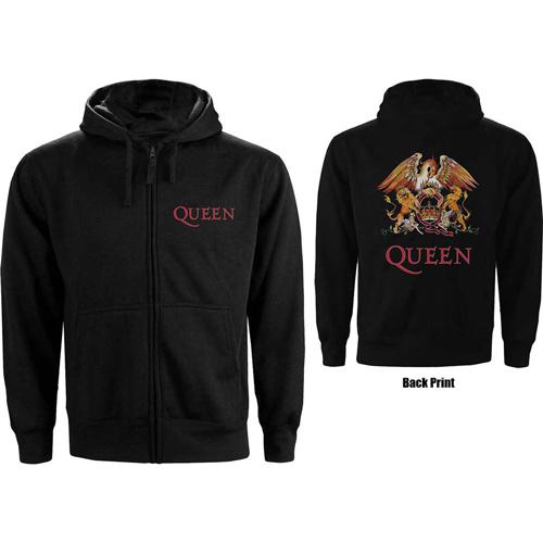 Pre order Queen - Classic Crest Zipped Hoodie